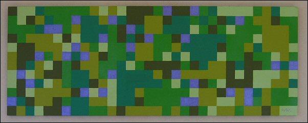 Pixels vert-violet