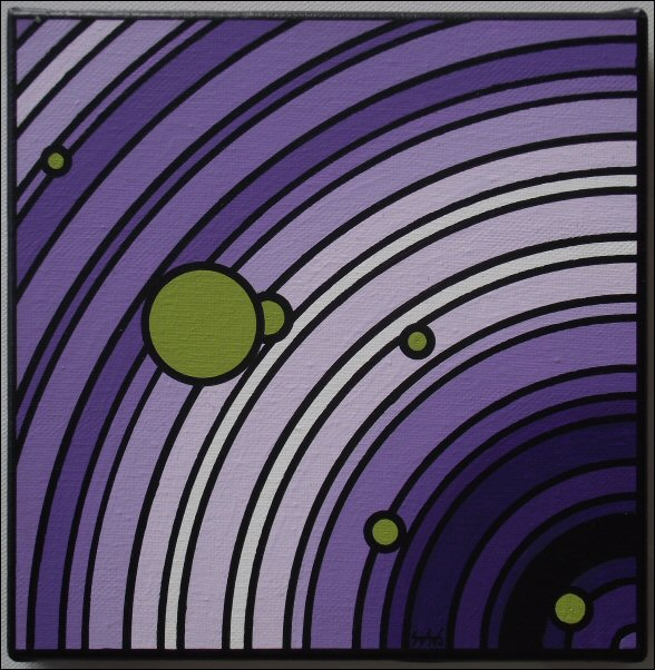Aérolithes violet-vert