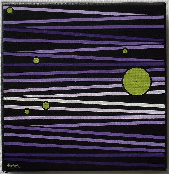Millefeuilles violet-vert