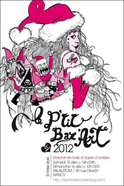Affiche P'tit Baz'Art 2012