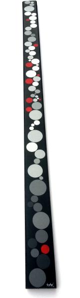 Acrylique et encre sur bois - 7x120 cm