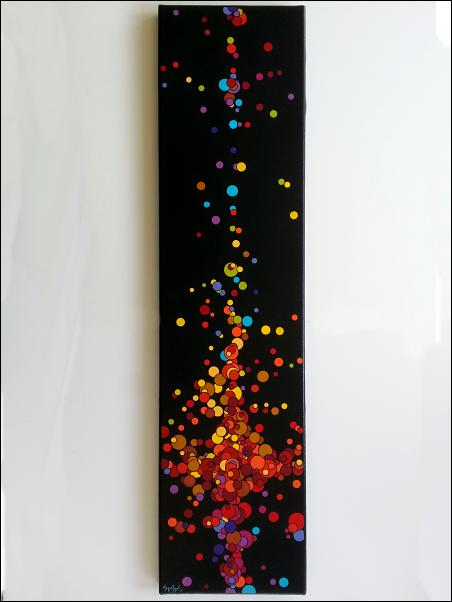 Acrylique et encre sur toile - 20x80 cm