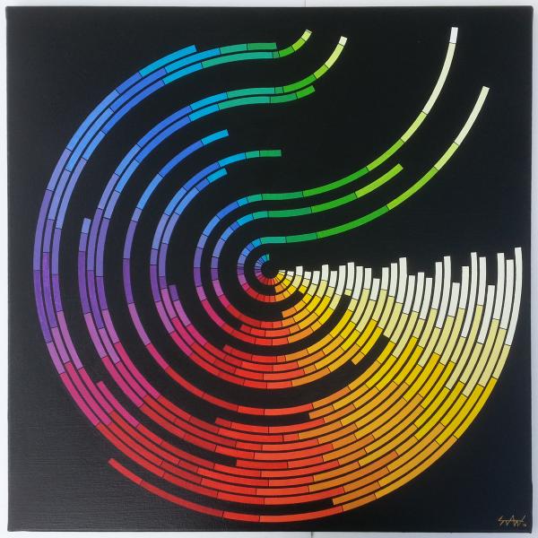 60 x 60 cm - Acrylique et encre de Chine sur toile