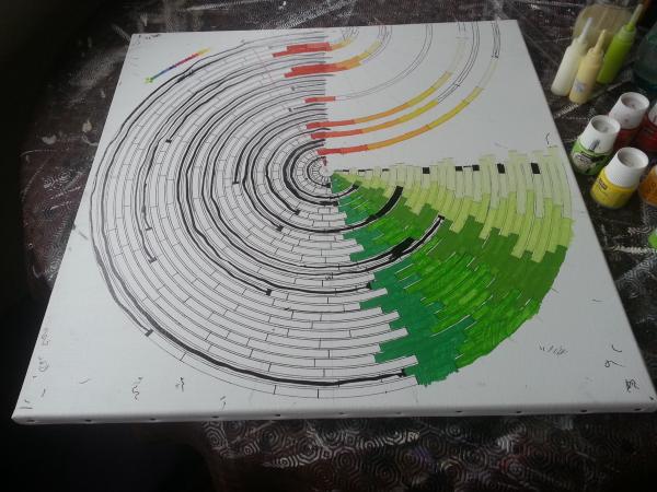 """C'est à ce moment que j'ai décidé de """"retourner"""" la palette pour mettre les couleurs chaudes en avant."""