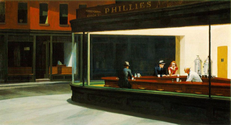 """Nighthawks"" - Edward Hopper"